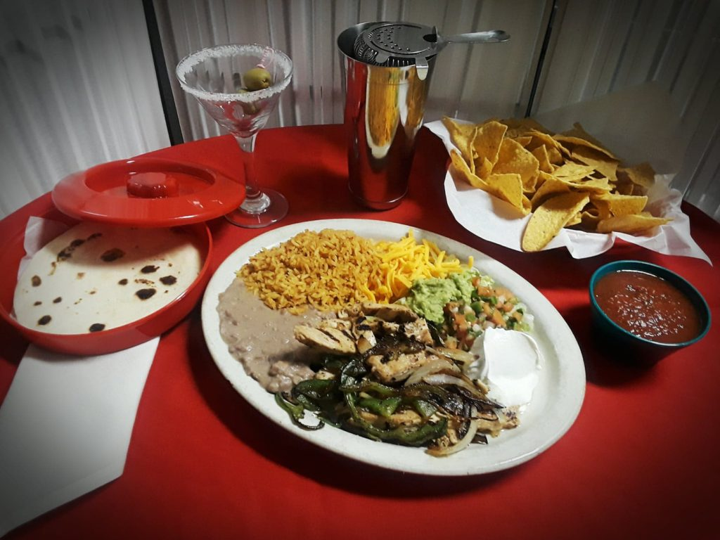 Lunch como fajita plate